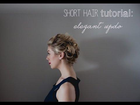 short hair tutorial: elegant updo for wedding / prom / grad