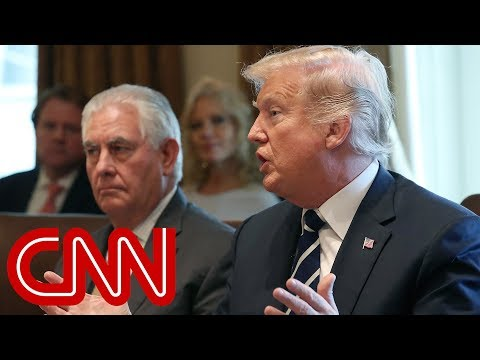 Trump fires back at Rex Tillerson: He\'s dumb as a rock