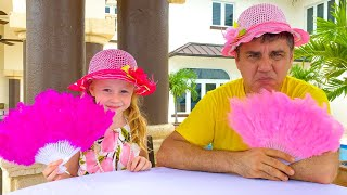 Nastya and dad come up with fun entertainment