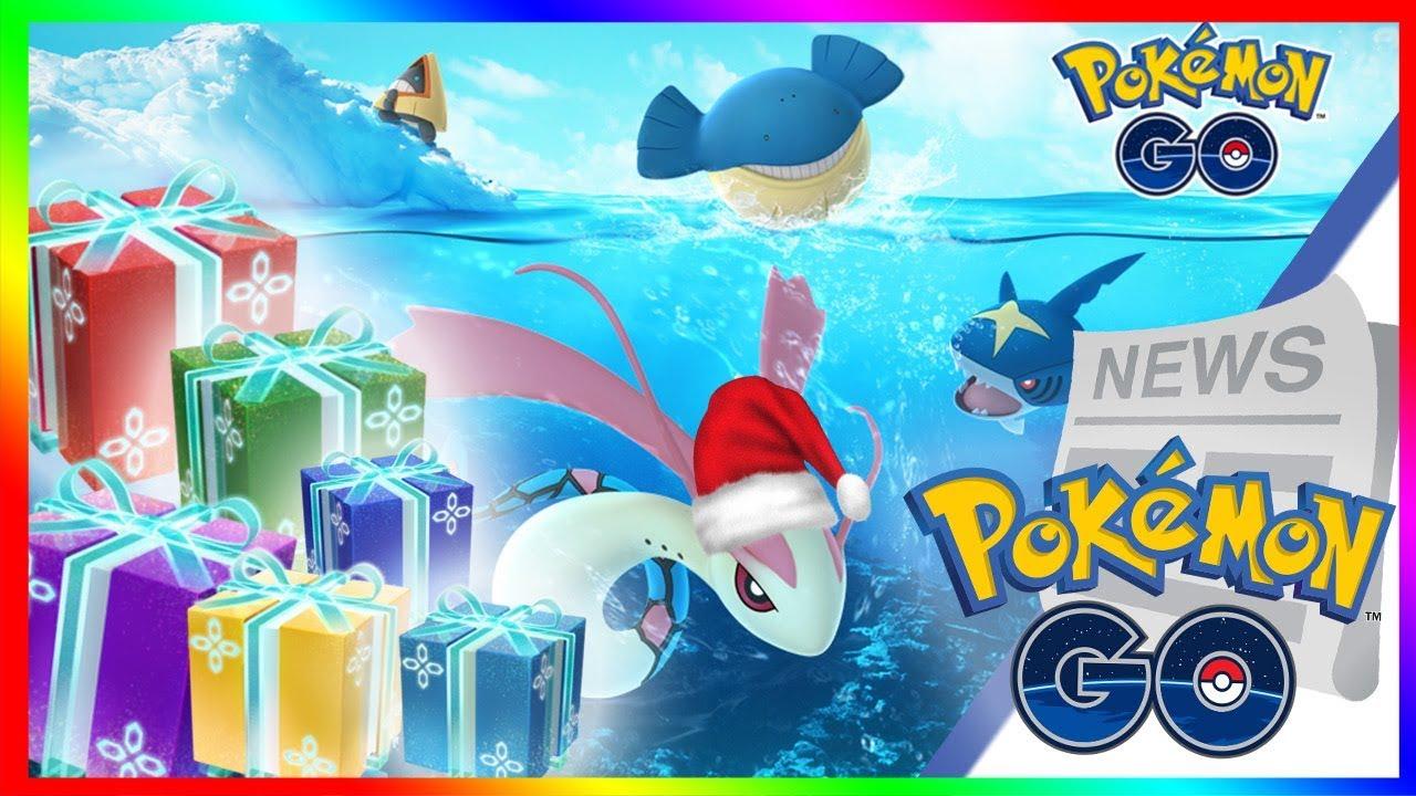 Christmas Update Pokemon Go.Pokemon Go Christmas Event New Gen 3 Water Ice Pokemon New Holiday Boxes Pokemon Go Update News