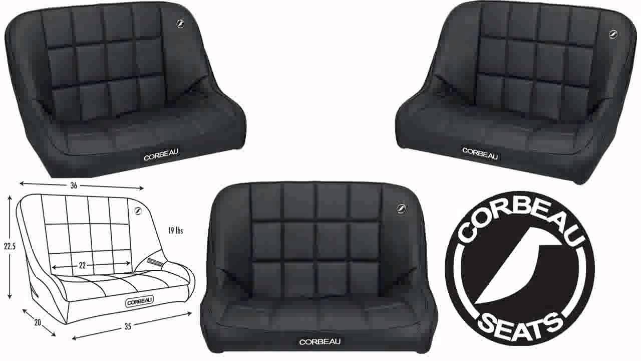 Corbeau Baja Bench 36 Inch Black Vinyl Youtube