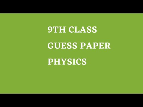 9th class physics important question