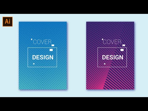 Minimal Cover Design  | Colorful Halftone Gradient | Adobe Illustrator Tutorial thumbnail