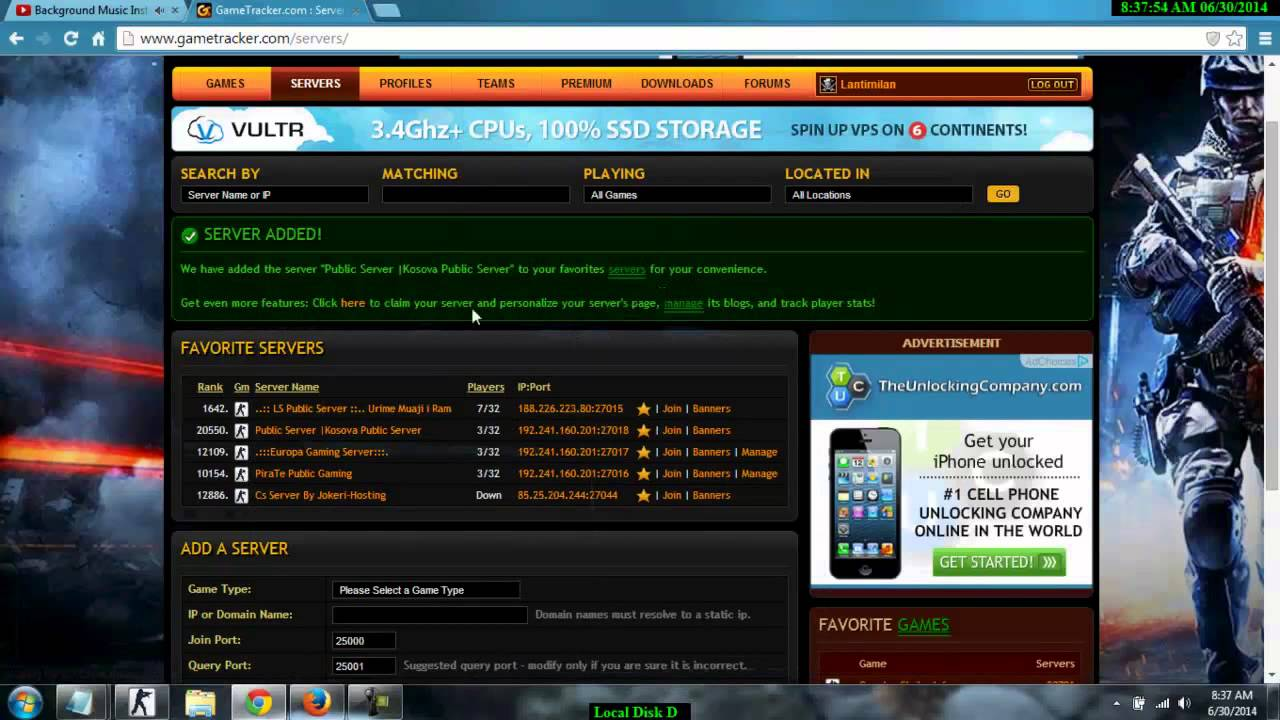 si te fusim ip server ne gametracker albania how to put server ip in