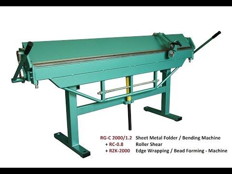 Type RG-C Sheet Metal Bending Machines / Folders