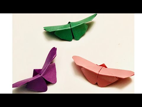 BUTTERFLY CRAFT / ORIGAMI BUTTERFLY / PAPER  BUTTERFLY / DIY BUTTERFLY / WALL DECORATION