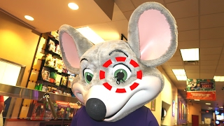 SPIDER ON CHUCK E CHEESE'S EYE | Family Fun for kids