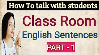 How to talk English with students!  Daily English speaking!  Learn English through Hindi