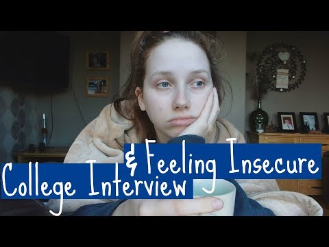 College Interview & Feeling Insecure | Vlog #1