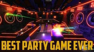 BEST PARTY GAME EVER! (Robot Roller-Derby Disco Dodgeball)