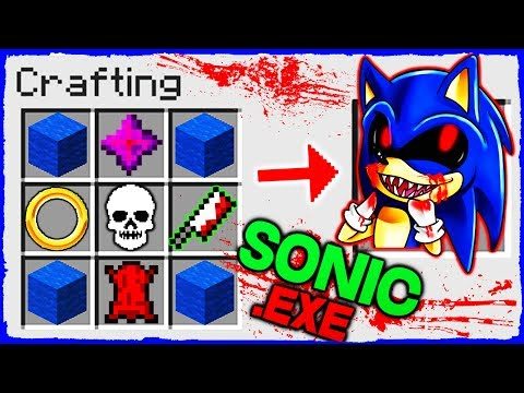 Minecraft SONIC - How to Summon SONIC.EXE in Crafting Table!