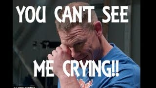 vuclip You can't see me crying! WWE star John Cena reduced to tears by surprise video