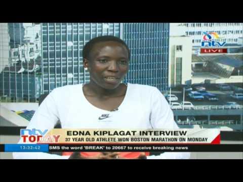 37 year old Edna Kiplagat on winning the 2017 Boston Marathon