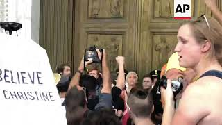 Protests in US as Kavanaugh arrives for swearing in