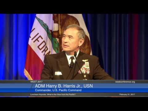ADM Harry B. Harris Jr., USN, Commander, U.S. Pacific. WEST 2017, 21 February Luncheon Keynote