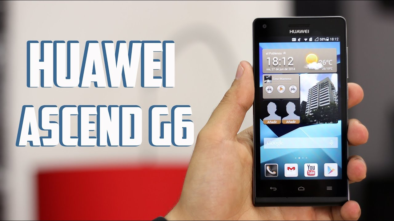 Huawei Ascend G6, review en Español