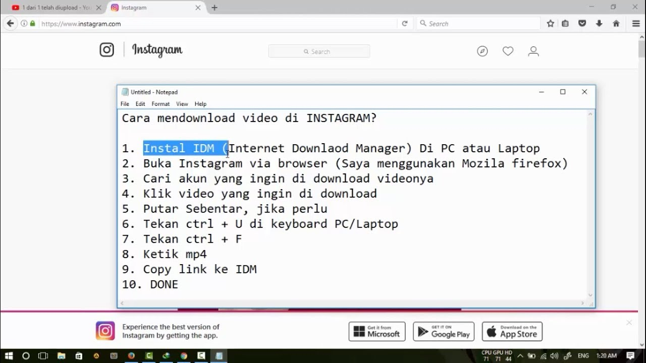 cara download video dari internet di pc