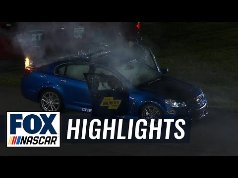 Chevy SS Pace Car Catches Fire in Daytona at Sprint Unlimited - 2014 NASCAR Sprint Cup