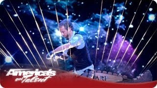 William Close Performs On His Earth Harp - America's Got Talent Semifinals