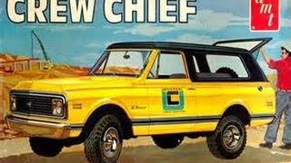 AMT 1/25 1972 Chevy Blazer Crew Chief Model Kit Review