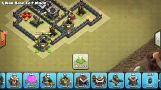The strongest war base: Base war TH 9 terkuat (replay attact) Desember 2016 - tipe 21