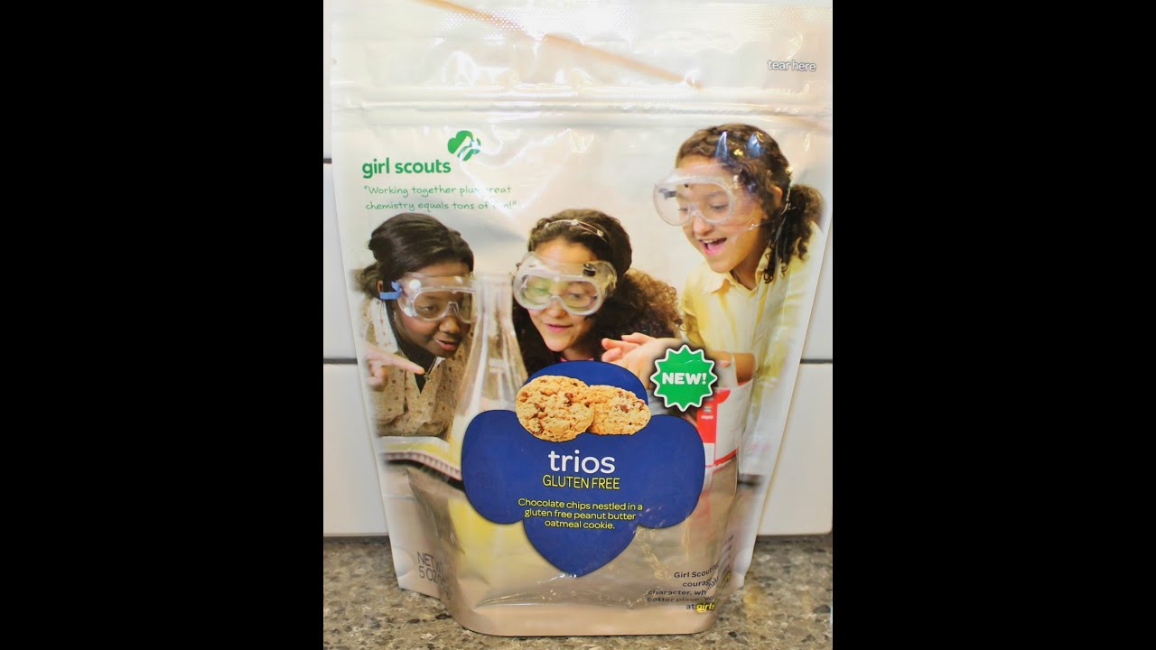 girl scout cookies trios gluten free review   youtube