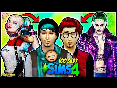 JOKER JR AND TRICK TEEN BIRTHDAY | The Sims 4: 100 Baby Challenge | HARLEY QUINN AND JOKER | Ep. 12