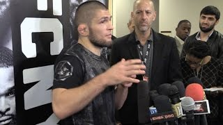 Khabib Nurmagomedov on Conor McGregor Backstage Confrontation