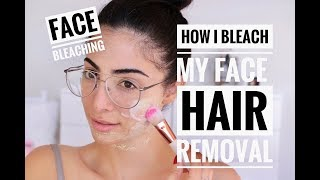 How to: BLEACH FACIAL HAIR | Painless and easy | THREADING mustache