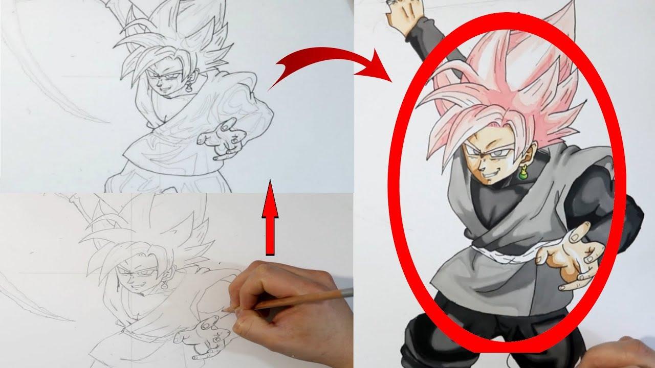 Black Goku Para Colorear: Como Dibujar (FÁCIL MÉTODO PARA PRINCIPIANTES ) Y Como