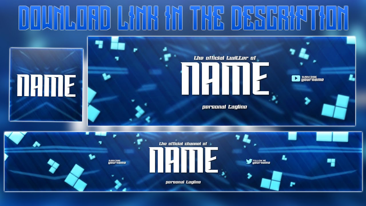 Blue YouTube Banner Template