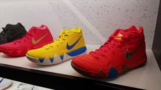 KYRIE IRVINGS CEREAL PACK SITTING!? NIKE KYRIE 4 KIX & LUCKY CHARMS SNEAKERS STILL AT FOOT LOCKER