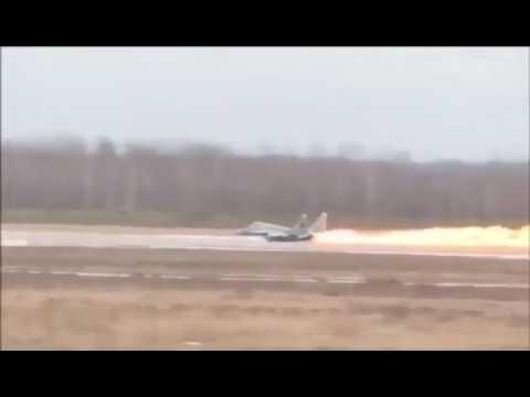 Авария истребителя МиГ-29