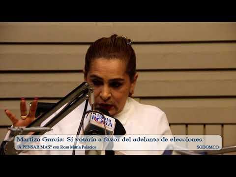 Martiza García: Sí votaría a favor del adelanto de elecciones