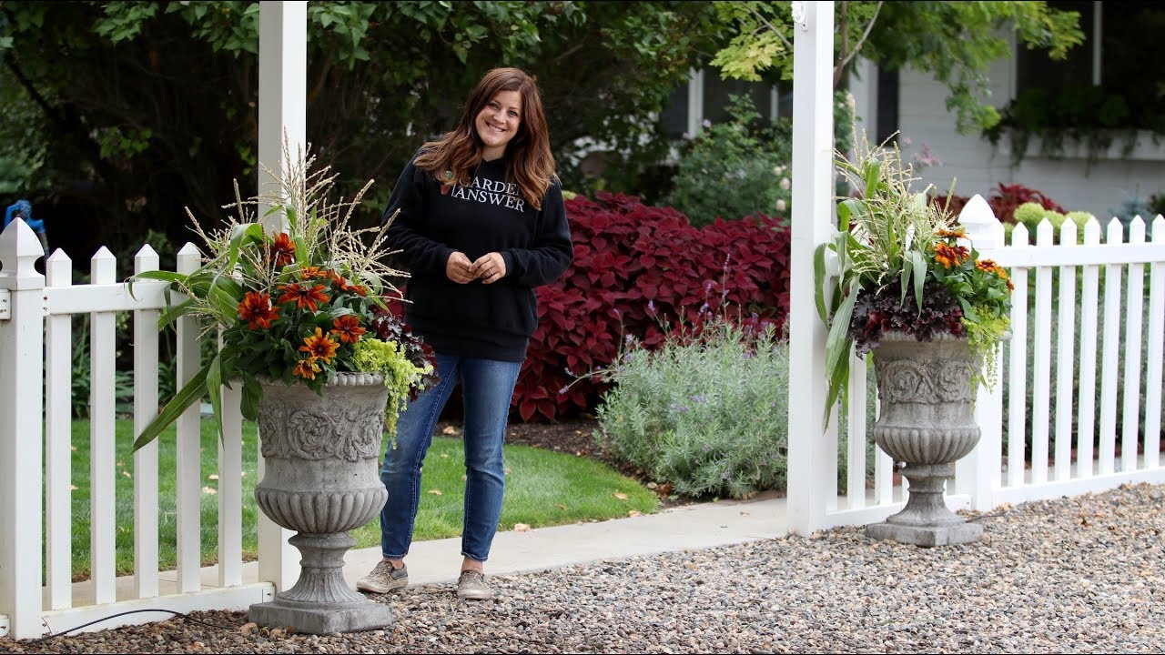 Fall Container Inspiration Garden Answer Youtube