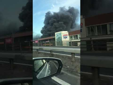 Car Park On Fire, Douglas. Co.Cork