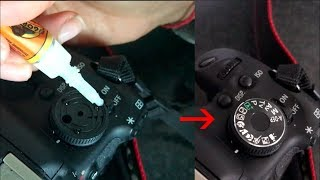 Replacing A Missing Canon 600D Mode Dial At Home