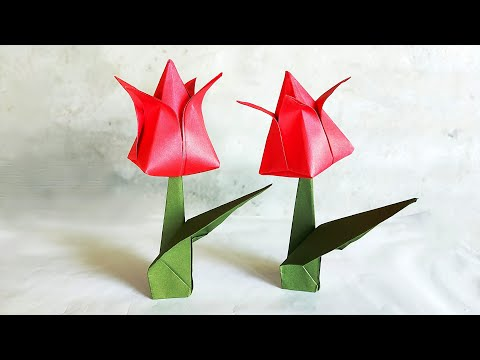 How to make Beautiful Paper Tulip Flowers || Easy Origami Tulip Flowers || DIY