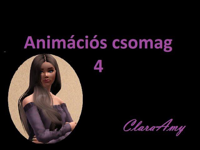 ClaraAmy 4.  animáció csomag / animation pack  ( Sims 3 )