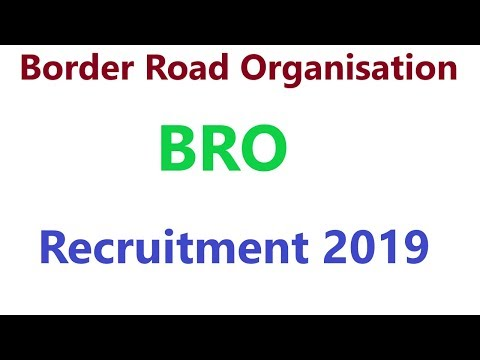 BRO Recruitment 2019 | Border Road Organisation Vacancy 2019 | BRO MSW, Veh Mechanic Bharti 2019