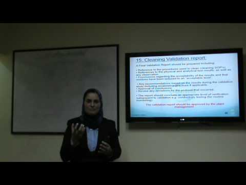 Cleaning Validation part 2 Dr Mona Zakria