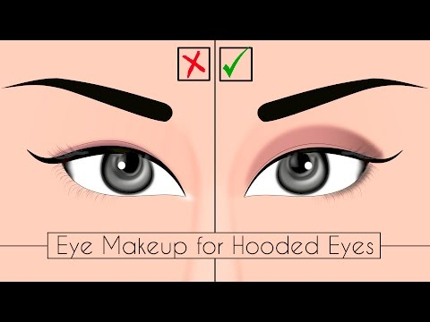 Eye Makeup For Hooded And Upturned Eyes   Quick & Easy Makeup Tips