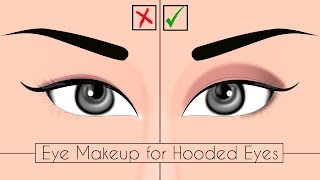 Eye Makeup For Hooded And Upturned Eyes | Quick & Easy Makeup Tips