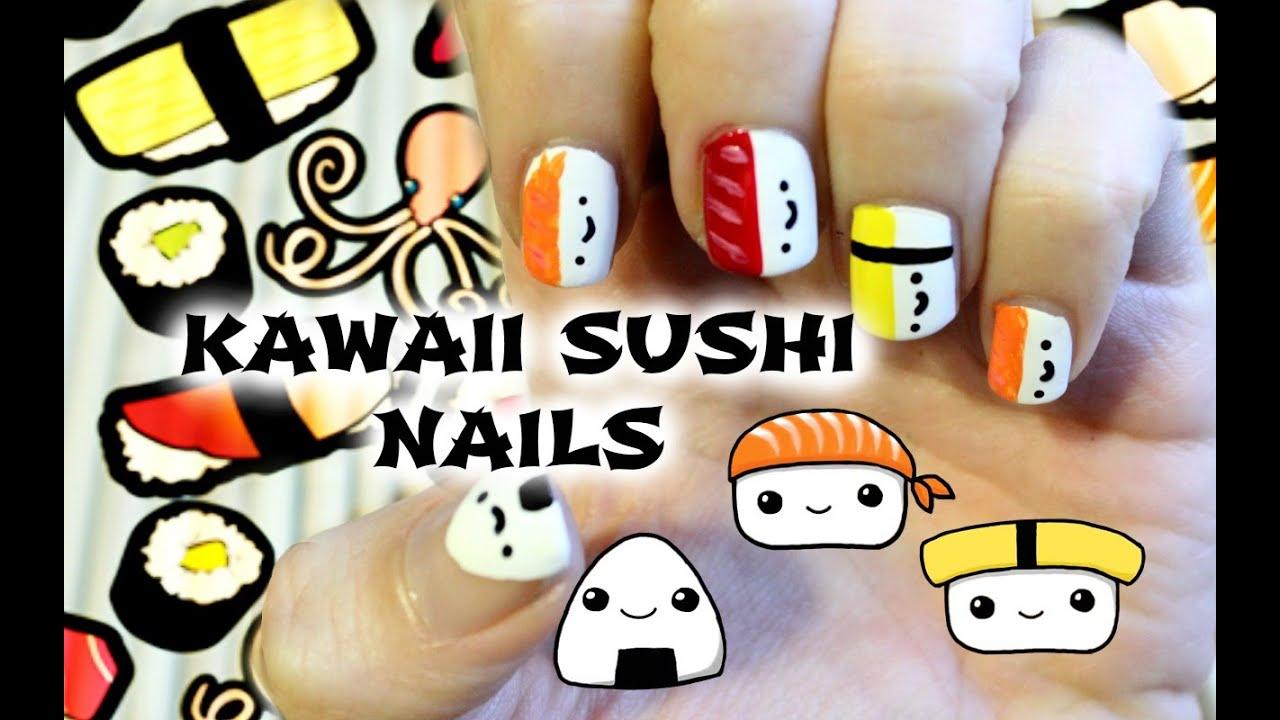 Kawaii Sushi Nails Youtube