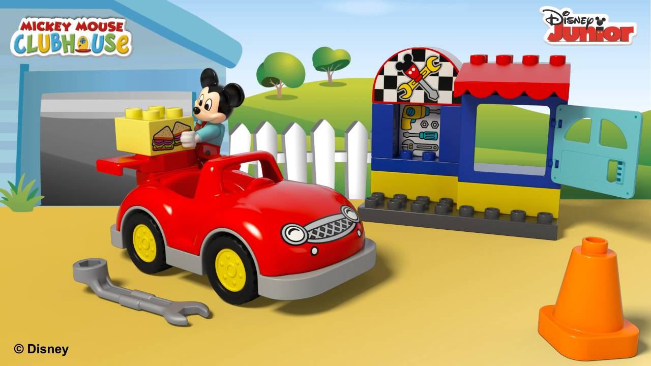 Lego Duplo Warsztat Myszki Mickey Youtube