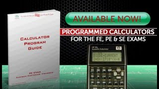 Examtools - Programmed calculators for the FE and PE Engineering Exams
