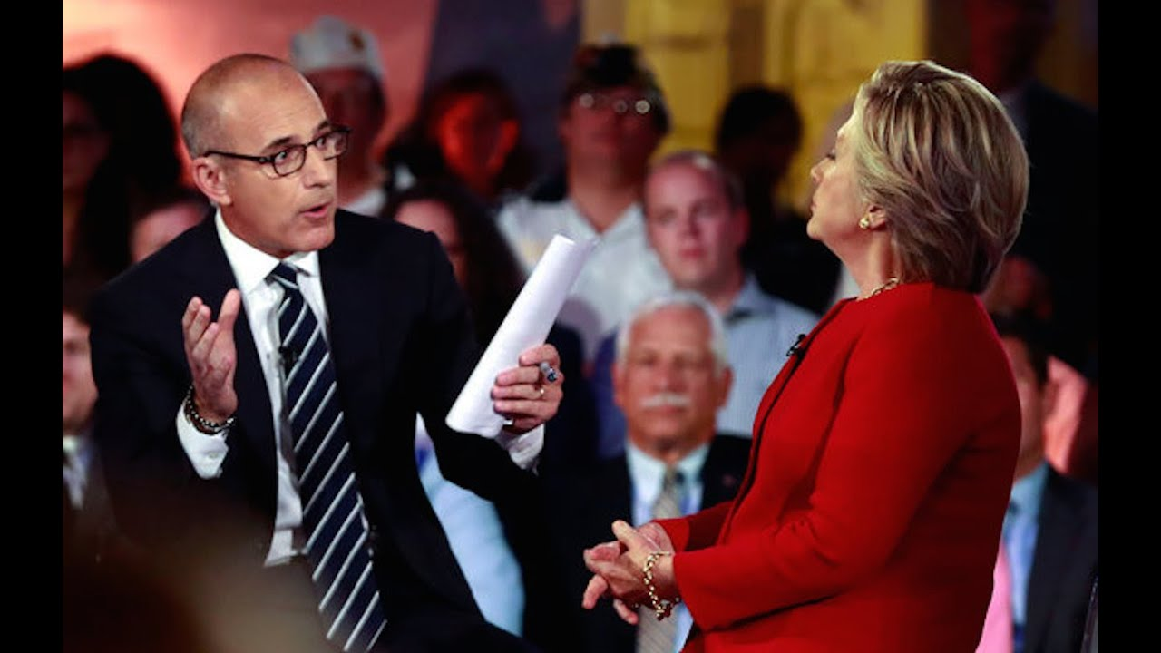 Image result for CLINTON AND MATT LAUER PHOTO