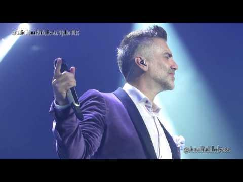 Alejandro Fernández canta en vivo TE AMARE en Buenos Aires