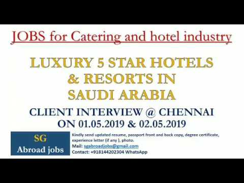 Jobs In Hospitality Field 5 Star Hotels And Resort In Saudi