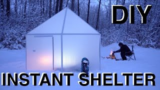 Camping in DIY Instant Pop-Up Folding Origami Shelter